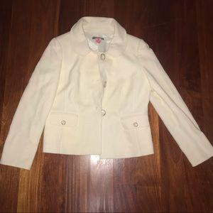 CREME colored size:12 Ann Taylor blazer